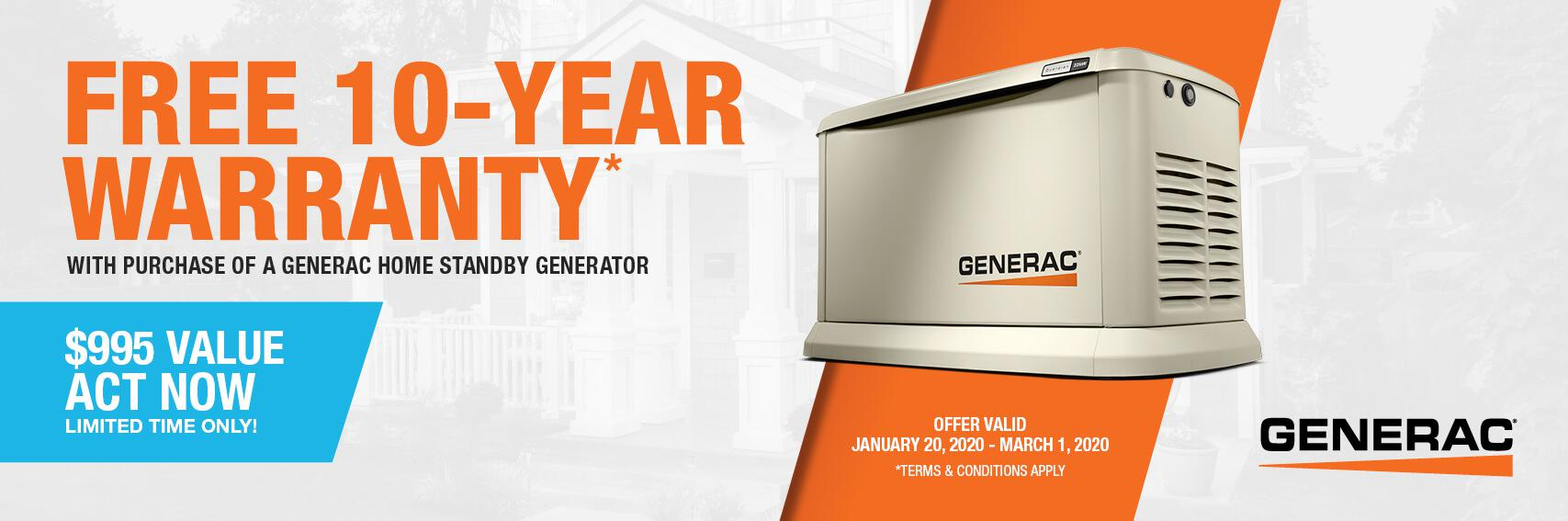 Homestandby Generator Deal | Warranty Offer | Generac Dealer | ALBION, PA